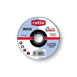 DISCO CORTE INOX Ø 115 x 1 mm.